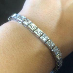 "Jewelry - 8"" authentic sterling silver tennis bracelet euc"